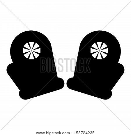 Pair of mittens icon. Simple illustration of pair of mittens vector icon for web
