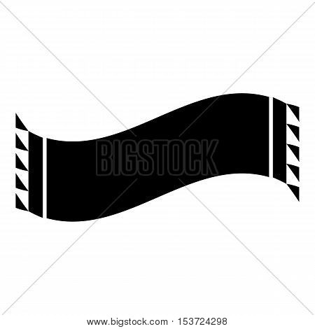 Black scarf icon. Simple illustration of scarf vector icon for web