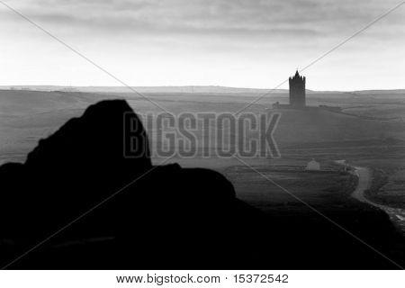Doonagore Castle near Doolin .The Burren, Ireland
