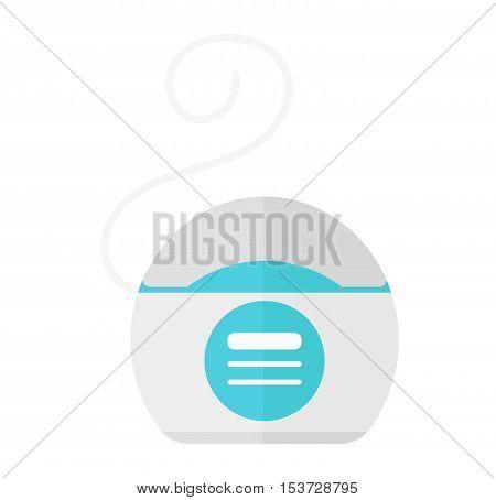 Dental floss vector illustration icon. flat style