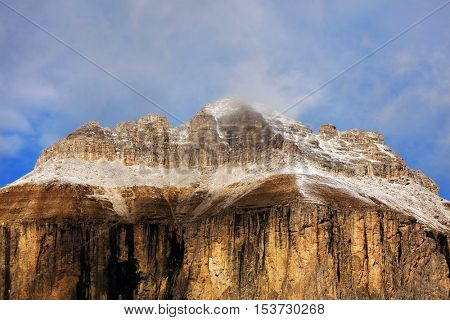 Piz Boe, view of top of Sella gruppe or Gruppo di Sella, South Tirol, Dolomites mountains, Italy