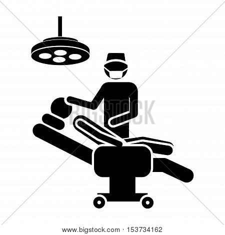 medical doctor and pacient icon image vector illustration design