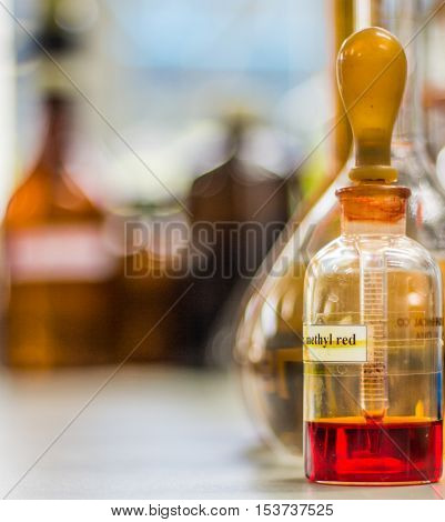 Methyl Red Indicator In Dropper Bottle, Red Chemical