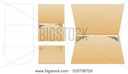 Vector Illustration of Horizon Landscape Folder for Design Mock up Template for your branding or product
