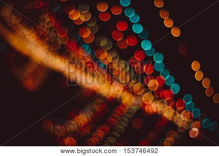Night city lights bokeh background, Defocused bokeh lights, Blurred bokeh, Bokeh light vintage background, Abstract colorful defocused dot, Soft focus