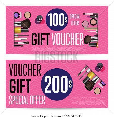 Special Offer Coupon Vector Photo Free Trial Bigstock - Makeup gift certificate template