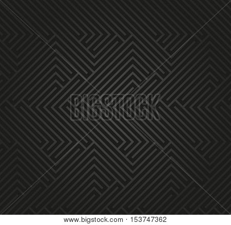 Seamless geometric dark pattern by stripes. Modern background with repeating lines. Seamless geometric background
