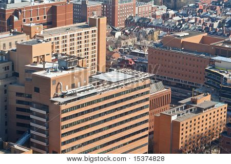 Tall Brick Buildings Helipad Philadelphia