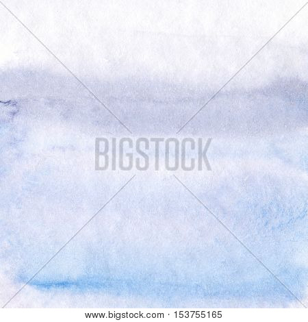 Abstract hand painted lilac grey and blue watercolor background