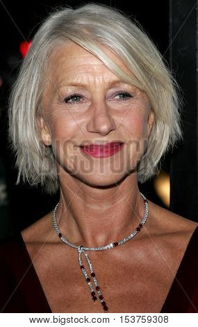 Helen Mirren at the Los Angeles premiere of 'The Queen' held at the Academy of Motion Picture Arts and Sciences in Beverly Hills, USA on October 3, 2006.