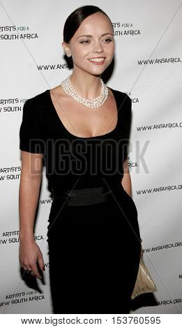 Christina Ricci at the Archbishop Desmond Tutu's 75th Birthday Party held at the Regent Beverly Wilshire Hotel in Beverly Hills, USA on September 18, 2006.