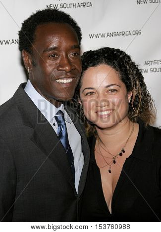 Don Cheadle and Bridgid Coulter at the Archbishop Desmond Tutu's 75th Birthday Party held at the Regent Beverly Wilshire Hotel in Beverly Hills, USA on September 18, 2006.