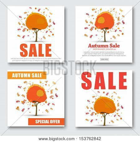 Design Web Banners For Sale. With Autumnal Tree With Discounts