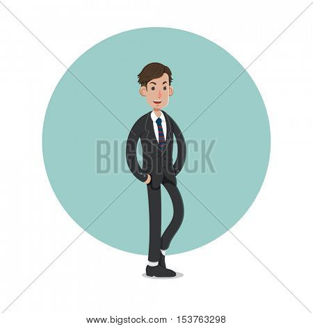 A businessman cartoon character