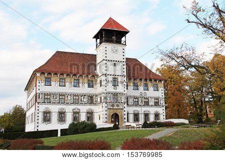 beautiful chateau in Stara Ves in the Czech Republic in autumn