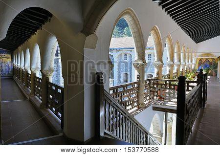 Male Kykkos Monastery in Cyprus. The room of the monastery.