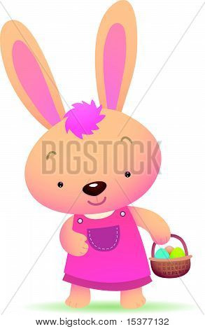 Cute pink Easter Bunny