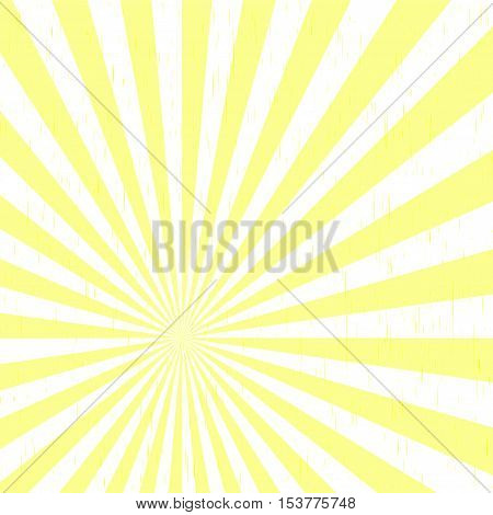 yellow background Beautiful summer sunburst. Vector background.