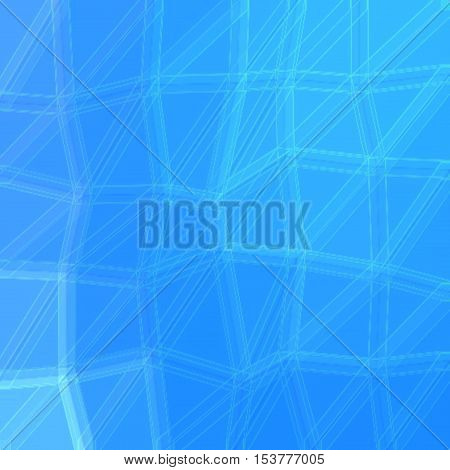 Surreal modern beautiful universal polygon turquoise background