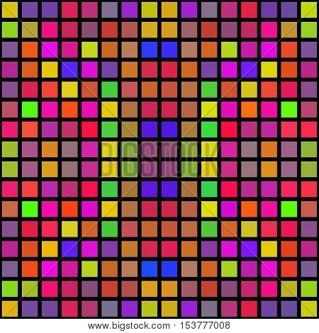 Colorful abstract cubes shapes pixelize texture image