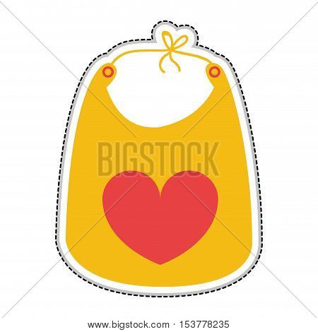 baby bib icon image vector illustration design
