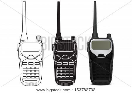 Radio transceiver. Vector illustration isolated on white background