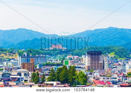 Takayama City Landscape Snow-capped Mountain H