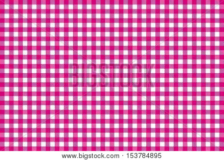 Checkered tablecloth background texture pink and white