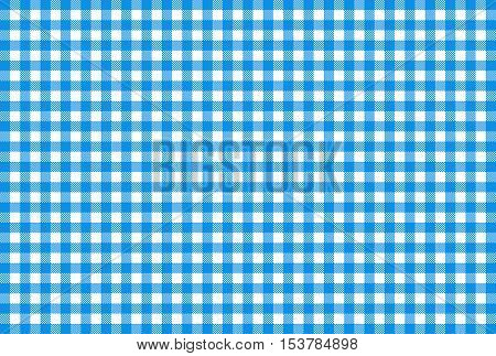 Checkered tablecloth texture light blue and white