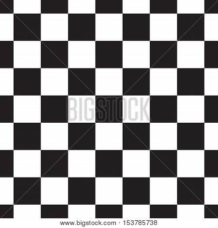 Black and white checkerboard seamless pattern. Square background