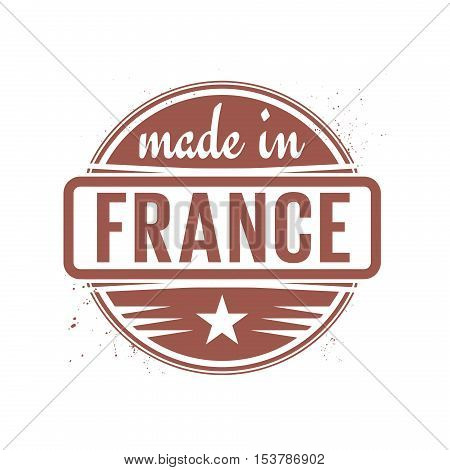 Abstract vintage stamp or seal with text Made in France, vector illustration