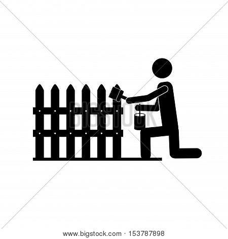 contractor or handy man icon image vector illustration design