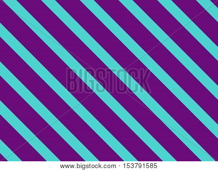 Diagonal stripes purple and blue turquoise background