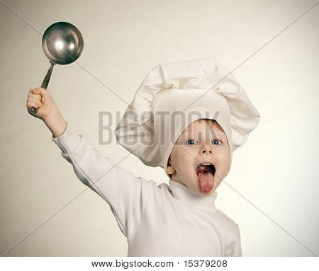 The cheerful cook