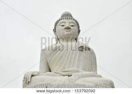 the image of buddha in temple at phuket, thailand