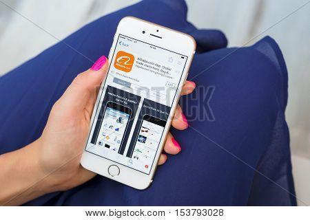 RIGA LATVIA - SEPTEMBER 8 2016: Alibaba app on App Store.