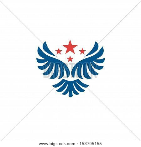 Vector star wings logo , Wing logo company , icon wing flying, eagle wing brand and logotype wing bird illustration