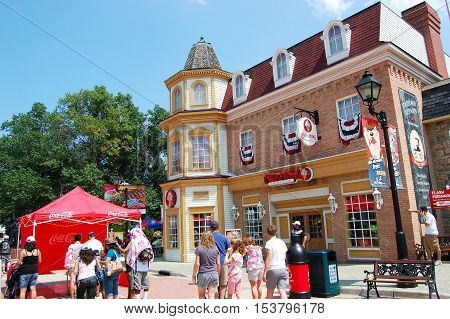 MARYLAND, USA - AUG 8, 2010: Six Flags America theme park near Baltimore, Mitchellville, Maryland, USA.