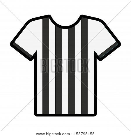 referee shirt uniform icon vector illustration design
