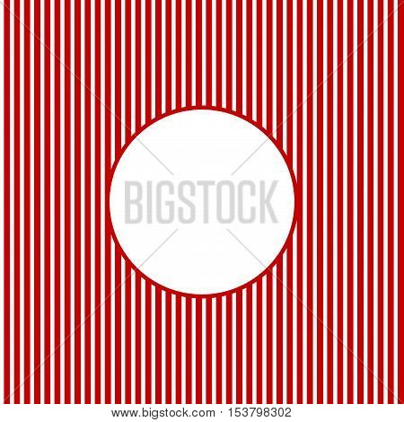 Striped background red white with white circle