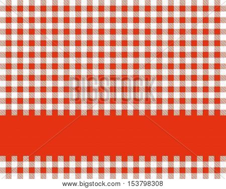 Traditional tablecloth background red white with red stripe