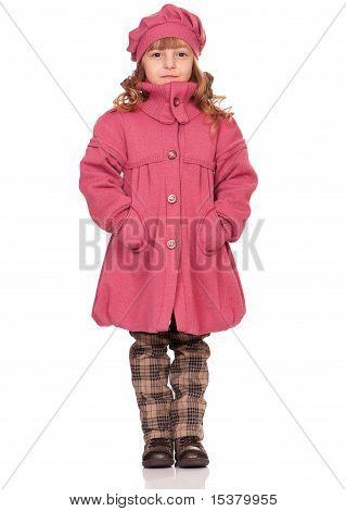 Vrij klein meisje