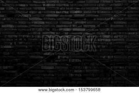 Cool background - Old black grey brick wall texture