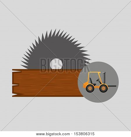 forklift truck construction sawmill icon graphic vector illustration eps 10