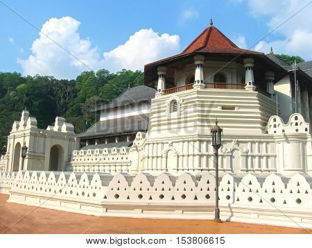 Temple Of The Sacred Tooth Relic located in the Royal Palace Complex Of The Former Kingdom Of Kandy Sri Lanka