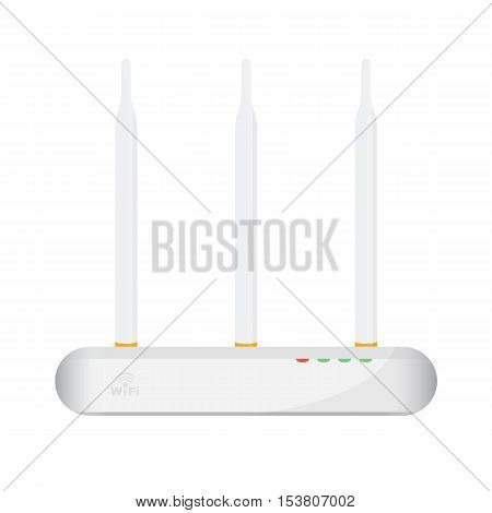 Wireless Access Point Concept By Have Three Antenna