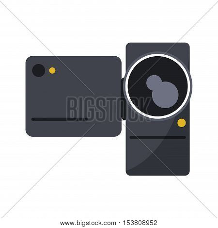 Videocamera icon. Device gadget and technology theme. Isolated design. Vector illustration