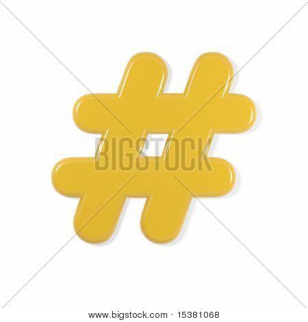yellow font - hash symbol