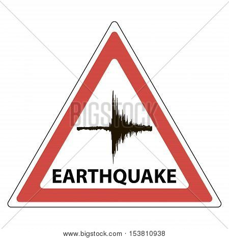 triangle sign seismology meaning the tremors of the earthquake vector poster