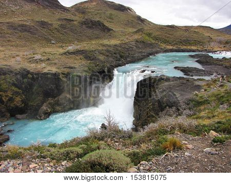 Salto Grande Waterfall - Torres del Paine National Park, Chile